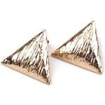 Stoklasa Kovové náušnice trojúhelníky (1 pár) - zlatá
