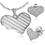 iMóda Ocelový set srdce - dle obrázku