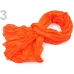Stoklasa Mačkaná šála 90x175 cm neon (1 ks) - 3 oranžová neon
