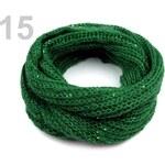 Stoklasa Nákrčník s flitry (1 ks) - 15 zelená jedle