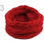 Stoklasa Pletený nákrčník 30x120 cm s copánky (1 ks) - 3 červená