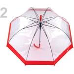 Stoklasa Dámský průhledný vystřelovací deštník (1 ks) - 2 červená