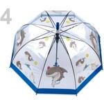 Stoklasa Dětský průhledný vystřelovací deštník (1 ks) - 4 modrá královská