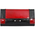 NewBerry Dámská kožená peněženka Cossroll 05-5242 černo-červená - dle obrázku