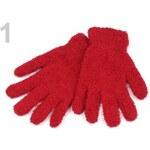 Stoklasa Dětské plyšové rukavice 10x18 cm (1 pár) - 1 červená