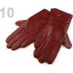 Stoklasa Dámské kožené rukavice 9x24 cm s výseky (1 pár) - 9L modrá temná