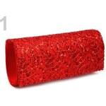 Stoklasa Kabelka - psaníčko 10x24 cm s flitry (1 ks) - 1 červená