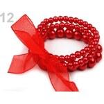 Stoklasa Náramek z voskovaných perel LINDA (1 ks) - 12 červená