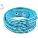Stoklasa Náramek s broušenými kamínky dvojitý (1 ks) - 3 modrá azuro
