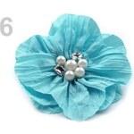 Stoklasa Brož Ø140mm květ DIANA (1 ks) - 6 modrá azuro