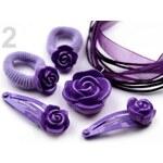 Stoklasa Dětská sada náhrdelník, gumičky, sponky (1 sada) - 2 fialová