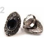 Stoklasa Prsten kovový DARINA (1 ks) - 2 černá