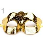Stoklasa Karnevalová maska škraboška (1 ks) - 1 zlatá