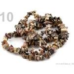 Stoklasa Menší zlomky obrušovaných minerálů na silonu (1 šňůra) - 10 jaspis leopardí