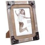 Stoklasa Rámeček na foto dřevěný stojací 18x23cm (1 ks) - hnědá písková