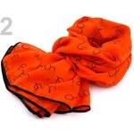 Stoklasa Šátek s nápisy (1 ks) - 2 oranžová mrkvová