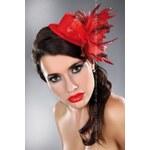 LivCo Corsetti Ozdoba Mini top Hat 23 - červená - Univerzální