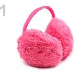 Stoklasa Klapky na uši plyšové dětské (1 ks) - 1 růžová neon