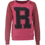 Terranova Two-colour sweatshirt with print and studs