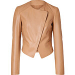 Michael Kors Leather Wrap Front Jacket