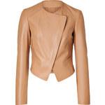 Michael Kors Leather Wrap Front Jacket