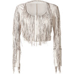 Roberto Cavalli Leather Fringed Jacket