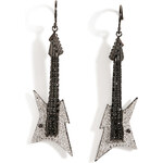 Lynn Ban Black Rhodium Silver Guitar Earrings B in White