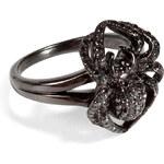 Lynn Ban Black Rhodium Silver Spider Pinky Ring