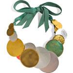 Hervé van der Straeten Hammered Multicolored Gold-Plated Necklace