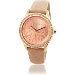 Esprit Nerez hodinky s koženým páskem, zirkony