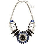 Marks and Spencer Per Una Pearl Effect & Diamanté Floral Statement Necklace