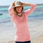 Blancheporte Jednobarevný pulovr růžová