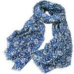Blancheporte Šátek s potiskem modrá potisk 100x180