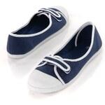 Blancheporte Plátěné balerínky námořnická modrá/bílá