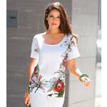 Venca Tričko s květinovým potiskem bílá