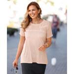 Venca Tričko s krajkovými detaily růžová