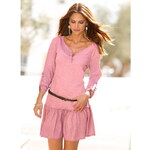 Venca Krátké šaty s potiskem růžová
