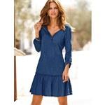 Venca Krátké šaty s potiskem modrá