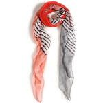 Venca Pruhovaný šátek korálová
