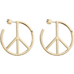 Marc by Marc Jacobs Disc-O Peace Out Hoop Earrings