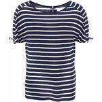 Tmavě modré tričko s bílými pruhy Vero Moda Etly