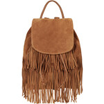 Topshop Suede Tassel Backpack