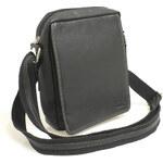 Enrico Benetti Černá kožená pánská taška přes rameno 52005 černá