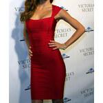 DAMSON Zeštíhlující šaty - červené