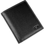 Septwolves Pánská černá kožená peněženka 3A10402