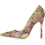 Topshop GALLOP Snake-Effect Courts