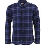 Modrá flanelová košile Selected Terry Slim Fit
