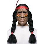 Maska s vlasy Indián