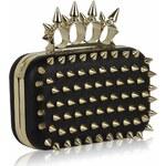 LS Fashion společenská kabelka LS0202 černá-zlatá