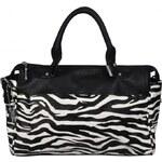Bulaggi Elegantní černo-bílá kabelka se zvířecím motivem 29400-10 AKCE